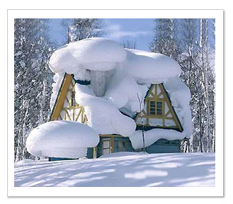 Alexandria Snow Covered House